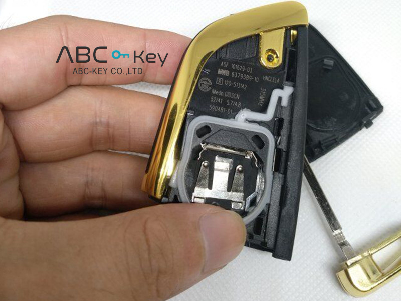 FEM System Remote Key for BMW F Series 315MHZ/433MHZ with Gold Metal Cover