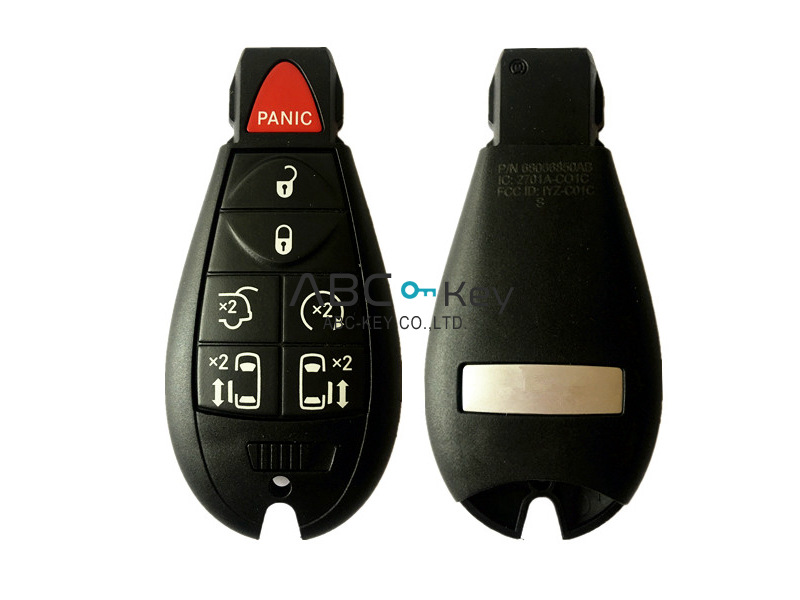 OEM 6 + 1B without key go Chrysler Dodge Jeep Fobik remote keys