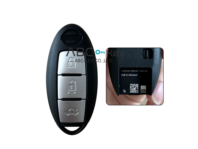 Nissan new smart key Teana with chip 4A